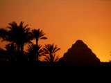 A Silhouette of the Step Pyramid at Dahshur