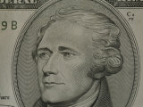 Portrait of Alexander Hamilton on the Ten Dollar Bill