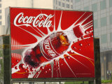 A Chinese Billboard Advertising Coca-Cola
