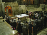 People Attend Mass in the Church of the Annunciation