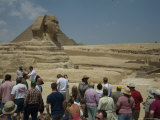 Tourists View the Great Sphinx
