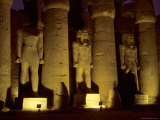The Large Statues and Columns That Guard the Temple of Luxor