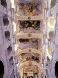 Ceiling of Church of St. Thomas, Prague, Czech Rep