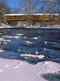 Snow Covered Bridge Over Shanandoah River