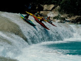 Kayakers Drop Vertically on Shumel Ja River, Mexico