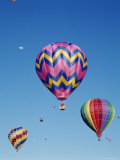 Colorful Hot Air Balloons in Sky, Albuquerque, New Mexico, USA