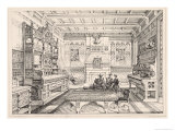 Dining Room, from Examples of Ancient and Modern Furniture, 1876 Giclee Print