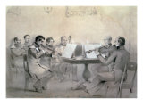 Quartet of the Composer Count A. F. Lvov, 1840 Giclee Print