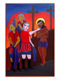 Jesus is Stripped of His Garments and Given Gall to Drink, No. 10 in 14 Stations of the Cross 2002