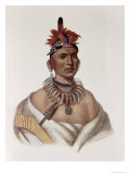 Chon-Ca-Pe, Oto Chief, The Indian Tribes of North America, Vol.1, Mckenney and Hall, Pub.Grant
