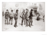 Unemployed of London: We've Got No Work to Do, The Illustrated London News, 1886