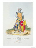 De Vere, Earl of Oxford, 1280, from Ancient Armour by Samuel Rush Meyrick, 1824