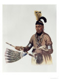 Naw-Kaw, Winnebago Chief, IThe Indian Tribes of North America, Vol.1, Mckenney and Hall, Pub.Grant