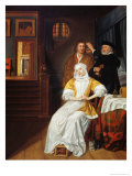 Doctor Visiting a Young Lady in a Bedroom