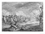 Battle of Lexington, 1775, from Recueil D'Estampes by Nicholas Ponce, Engraved by the Artist