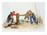 Fishermen at a Capstan, from Costume of Great Britain, Published by William Miller, 1805