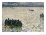 Shipyard Workers Returning Home on the Elbe, 1894 Giclee Print