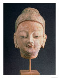 Head of a Statue of Buddha, from Bezeklik, 9Th-10th Century Giclee Print