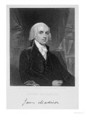 Portrait of James Madison, Engraved by William A. Wilmer