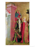 St. Barbara Locked in a Tower by Her Father, from the St. Barbara Altarpiece