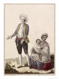 Spaniard and His Indian Wife, Engraved by Juan de La Cruz, 1784 Giclee Print