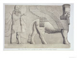 Human-Headed Bull and Winged Figure, Koujunjik, Plate 3 from Nineveh and Its Remains Layard