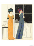 Two Empire Line Evening Dresses, from Les Robes de Paul Poiret 1908