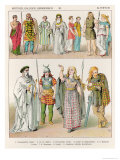 Dress of the Britons, Gauls and Germans, from Trachten Der Voelker, 1864