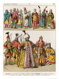 Moorish and Turkish Dress, c.1500, from Trachten Der Voelker, 1864