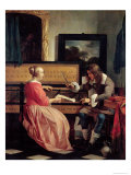 Man and a Woman Seated by a Virginal, c.1665