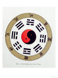 Buy The Pa-Kua Symbol, Showing the Symbols For the Eight Changes, the Trigrams and Yin and Yang at AllPosters.com