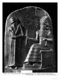 Code of Hammurabi, the God Shamash Dictating Laws to Hammurabi, King of Babylon, Susa, c.1750 BC