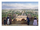 Champs-Elysees, from the Top of the Arc de Triomphe, Promenades Dans Paris et Ses Environs, c.1840