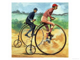 Bicycles Down the Ages. the Penny Farthing,