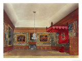 The Throne Room, Hampton Court from Pyne's Royal Residences, 1818