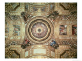 The Vision of Paradise, Frescoes on the Ceiling and Cupola of Sant'Andrea Della Valle, Rome, 1621 Giclee Print