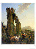 Peasants with Cattle by a Ruined Aqueduct, c.1655-60