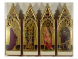 Four Saints, Quaratesi Polyptych: Mary Magdalene, St. Nicholas, St. John and St. George, c.1425 Giclee Print