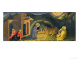 Adoration of the Magi Altarpiece, Left Hand Predella Panel Depicting the Nativity, 1423 Giclee Print