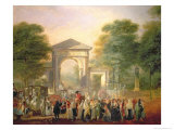 Avenue Before the Botanical Gardens in Madrid, c.1781