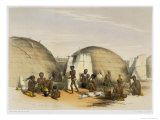 Zulu Kraal at Umlazi with Huts and Screens, Plate 21 from The Kafirs Illustrated, 1849
