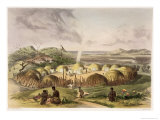 Zulu Kraal Near Umlazi, Natal, Plate 27 from The Kafirs Illustrated, 1849