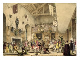 Twelfth Night Revels in the Great Hall, Haddon Hall, Architecture of the Middle Ages, 1838