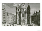 View of the Peterskirche, Vienna Engraved by Johann Bernard Hattinger