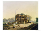 Ancient Temple at Hulwud, Witherington, Engraved G. Hunt, Coloured Hogarth, Pub. Ackermann, 1826