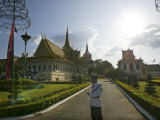 Royal Palace Guard Stands During Coronation Ceremonies in Phnom Penh Thursday October 28, 2004 Photographic Print