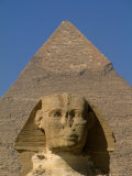 Sphinx and Khafre Pyramid, 4th Dynasty, Giza, Egypt