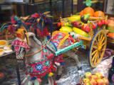 Buy Miniature Sicilian Horsecart and Marzipan Candy, Corso Umberto 1, Taormina, Sicily, Italy at AllPosters.com