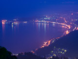 Buy Evening View of Giardini-Naxos Resort Area, Taormina, Sicily, Italy at AllPosters.com