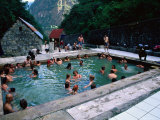 People Relaxing at Aguas Calientes Thermal Baths, Cuzco, Peru